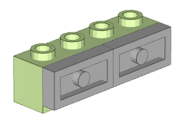 Technic bricks with half-plate offset