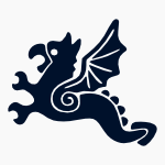 Dragon small vector graphic