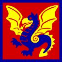 Dragon square vector graphic