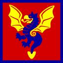 Dragon triangle vector graphic