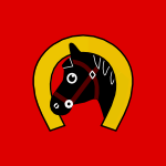 Horse and horseshoe vector graphic