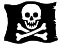 Pirate flag vector graphic
