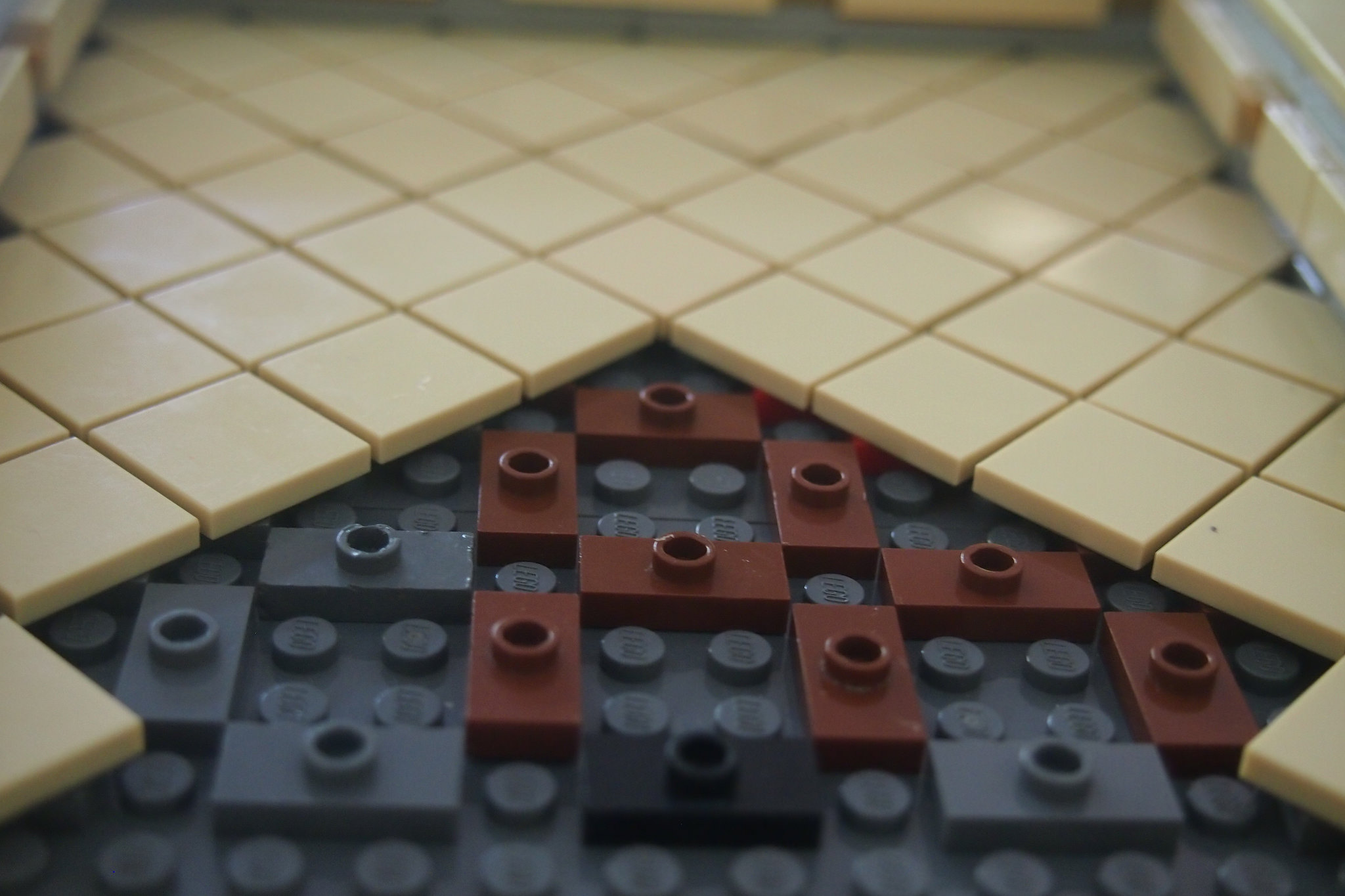 Diagonal tiles for floors or detailing