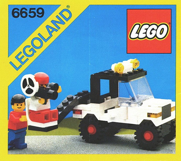 instructions for 6659 1 tv camera crew tv camera crew is lego set 6659 ...